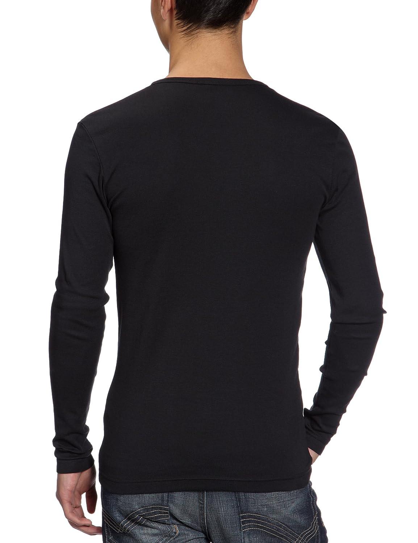1bb051d5ed0b G-star Base R - T-Shirt Manches Longues - Slim - Uni - Homme - Noir - XXL   Amazon.fr  Vêtements et accessoires
