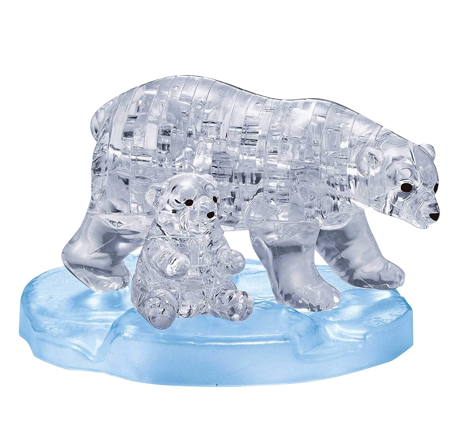 Original 3D Crystal Puzzle - Polar Bear and Baby: 40 Pieces BePuzzled 31079