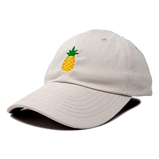 DALIX Pineapple Hat Unstructured Cotton Baseball Cap in Beige at ... d6181cdb6ae8