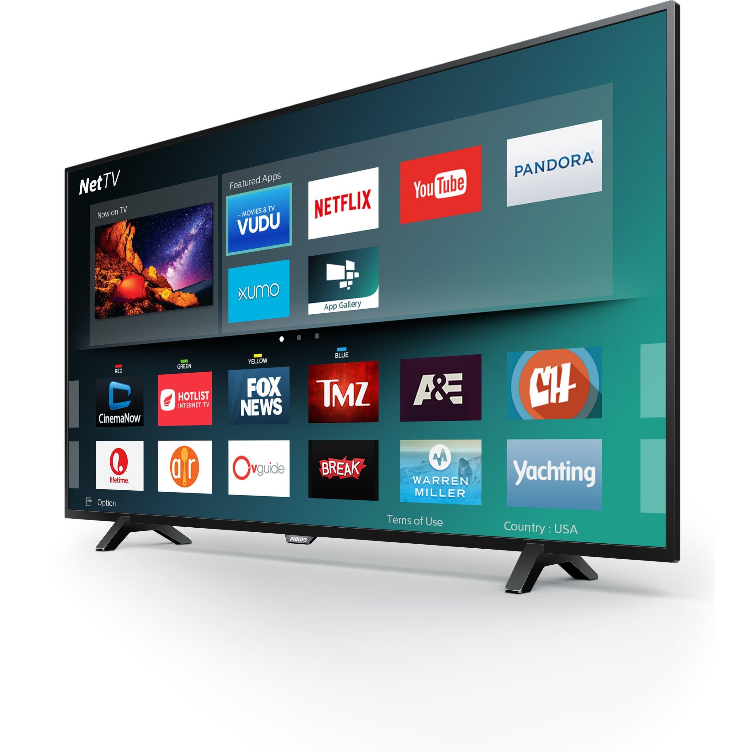 """Philips 55PFL5602/F7 55"""" Class 4K Ultra HD Smart LED TV 2160p 60Hz Black 2"""