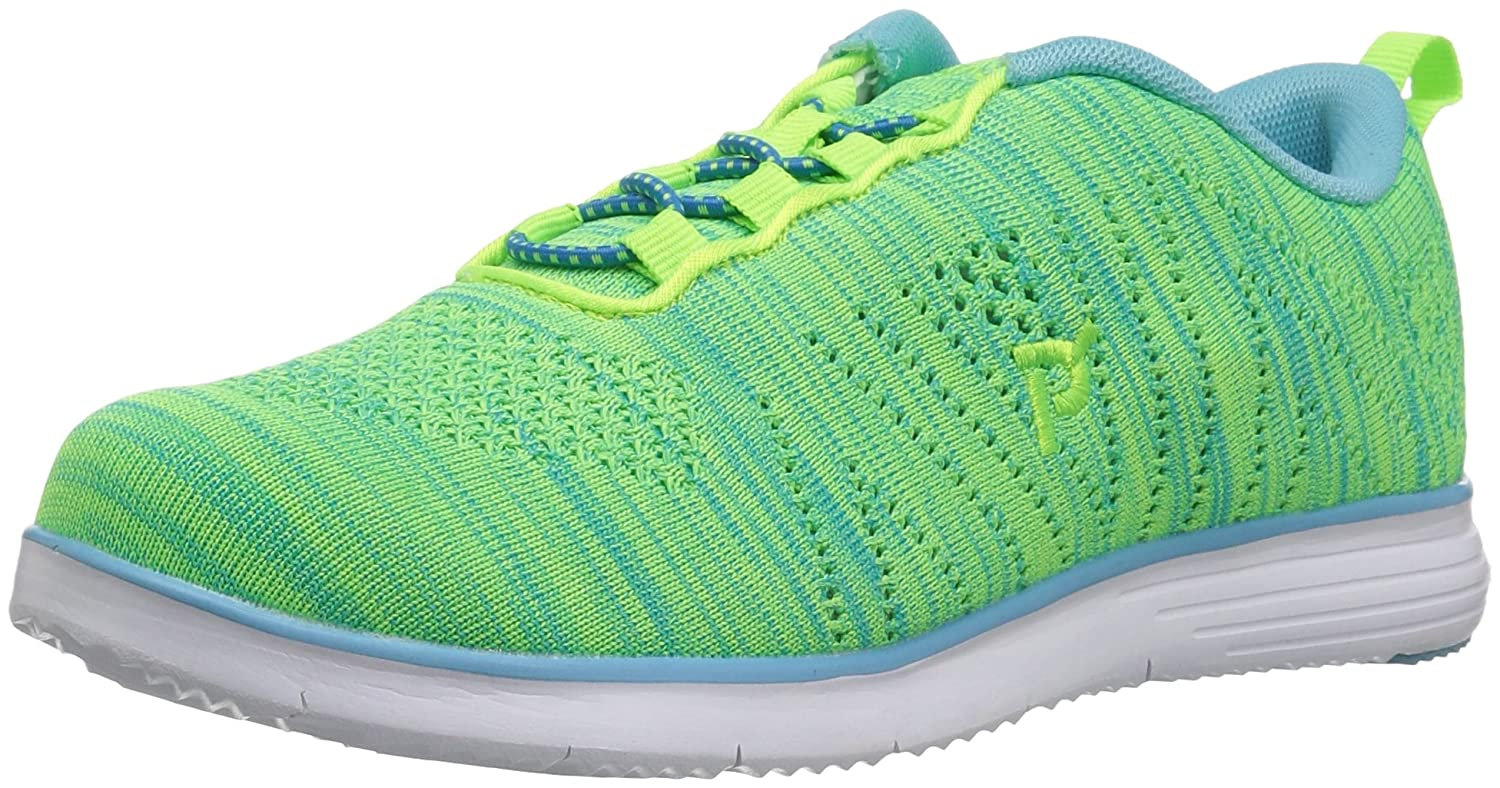 Propét Women's TravelFit Walking Shoe B01KNVFU32 6.5 2A US|Lime/Blue