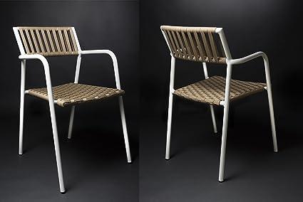 Sedia Design Alluminio.Rosa Splendiani Set 2 Sedie Design Gilda In Alluminio E