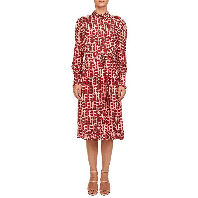 22c04f73c7dbb Elisabetta Franchi Mujer AB45386E2303 Rojo Viscosa Vestido  Amazon.es  Ropa  y accesorios
