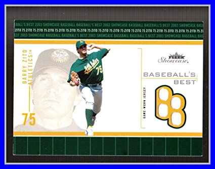 huge selection of b949c ab144 Amazon.com: 2003 Fleer Showcase Baseball's Best GAME USED ...