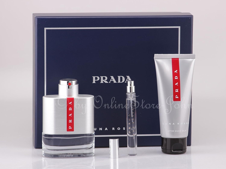Prada - Luna Rossa Set - 100ml EDT + 100ml After Shave Balm + 10ml EDT Mini 490-80228