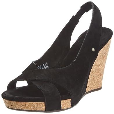 d9bb65def02 UGG Australia Women s W Hazel Black Wedges Heels 1771 8.5 UK  Amazon ...