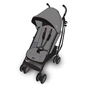 Summer Infant 3Dlite+ Convenience Stroller, Charcoal Herringbone  – Lightweight Umbrella Stroller with Oversized Canopy, Extra-Large Storage and Compact Fold, 31993