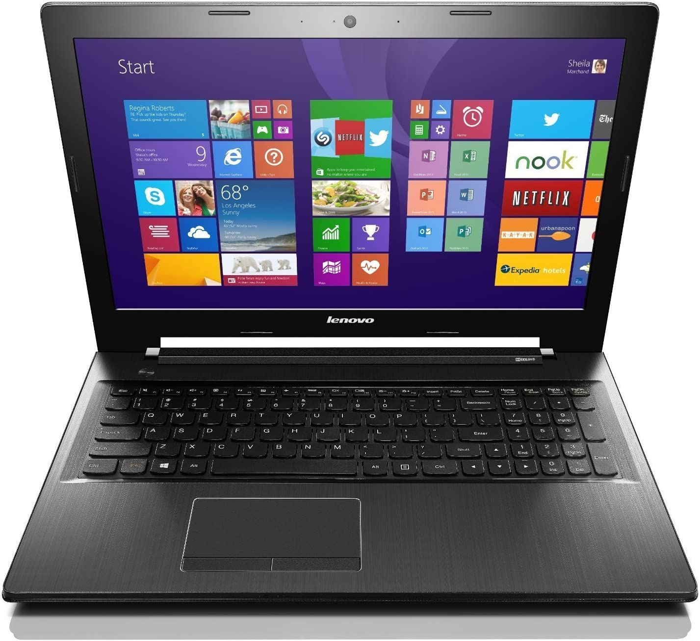 "Lenovo Z50-70 Laptop Computer - 59436278 - Core i7-4510U, 8GB RAM, 1TB HDD, 15.6"" Full HD 1080p Display, NVidia 820M 2GB Graphics (Renewed)"