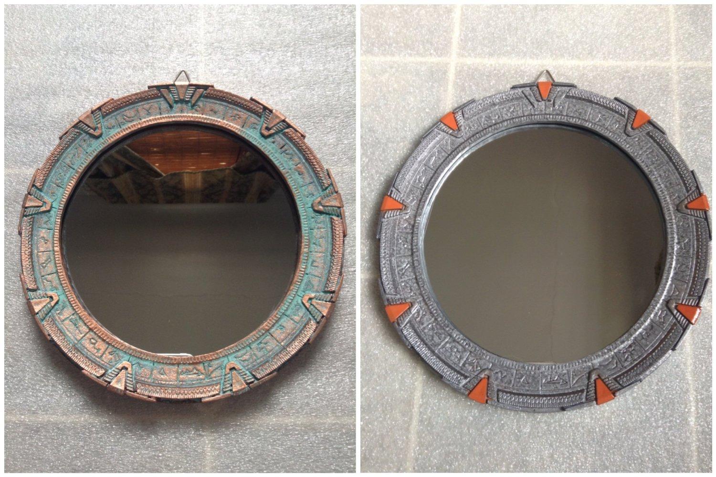 7-3/4'' Stargate Mirror - Patina or Silver (Silver)