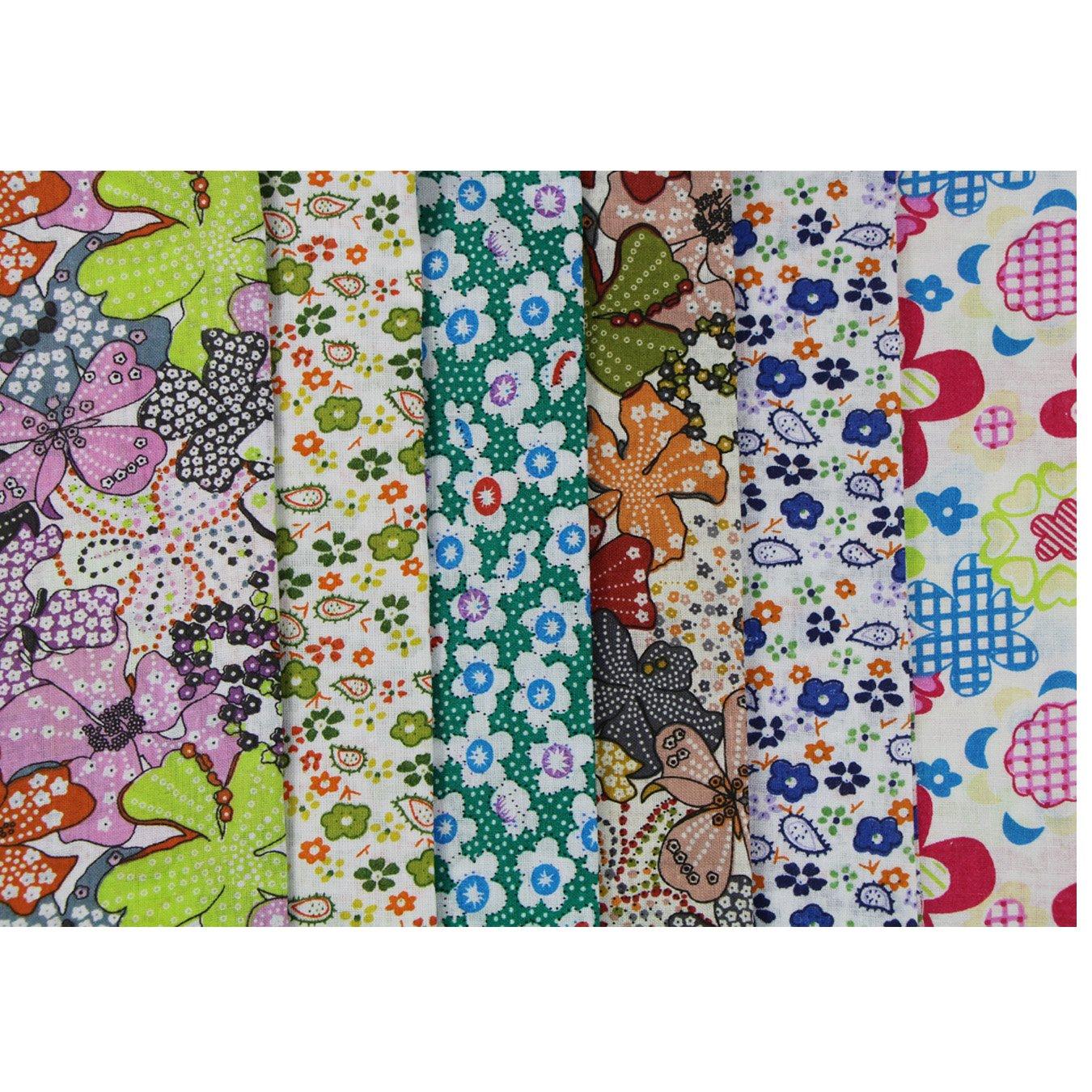 6 unidades 50 x 50 cm Plástico paquetes Patchwork sustancias algodón toalla DIY hecha a mano costura quilten plástico algodón Varios diseños: Amazon.es: ...