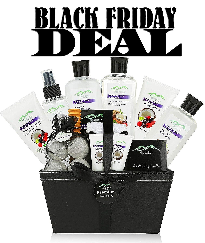 Premium Bath & Body Gift Baskets. 18 PC Large Spa Bath Gift Baskets for Women! Holiday Gift Baskets for Women. Best Home Spa Baskets for Women & Teens! Womens Gift Baskets #1 for Mom, Wife, Friends!