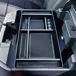 JKCOVER Center Console Organizer Tray Compatible with (2019-2020) Chevy Silverado 1500/GMC Sierra 1500 and 2020 Chevy Silverado/GMC Sierra 2500/3500 HD Accessories - Full Console w/Bucket Seats ONLY