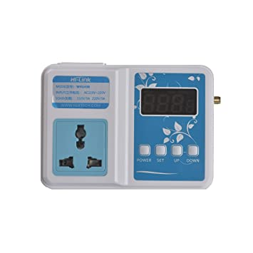 hlk wh 1436 app wifi digital smart temperature controller wireless thermometer multiple smartphones control thermostat control switch unit 1 relay output