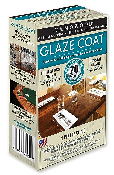 Famowood 5050060 Glaze Coat Epoxy Adhesive Kit   Pint Clear