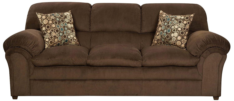 Amazon.com: Simmons Upholstery 6150-03 Harper Umber Sofa ...