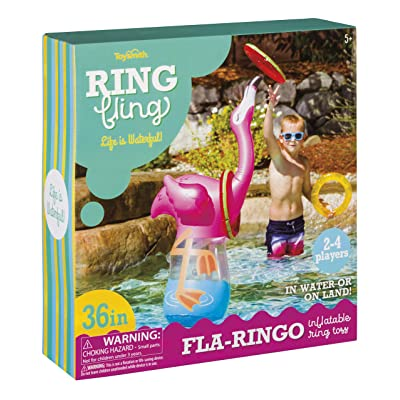 Ring Fling - FLA Ringo Inflatable Ring Toss Game: Toys & Games