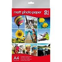 Papier photo mat A4–de qualité professionnelle –, Canon, HP, Epson, Kodak Compatible–Lot de 50