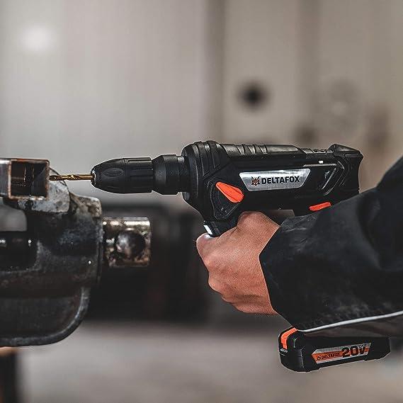 DELTAFOX Perceuse-visseuse sans fil avec batterie