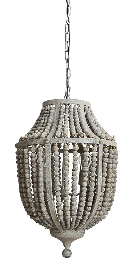 Amazon creative co op da6697 garden grey wood bead metal creative co op da6697 garden grey wood bead metal chandelier aloadofball Choice Image