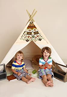 Achoka 30321 Teepee Indian Wigwam Children Play Tent with Wooden Structure and Floor Mat  sc 1 st  Amazon UK : spongebob play tent - memphite.com