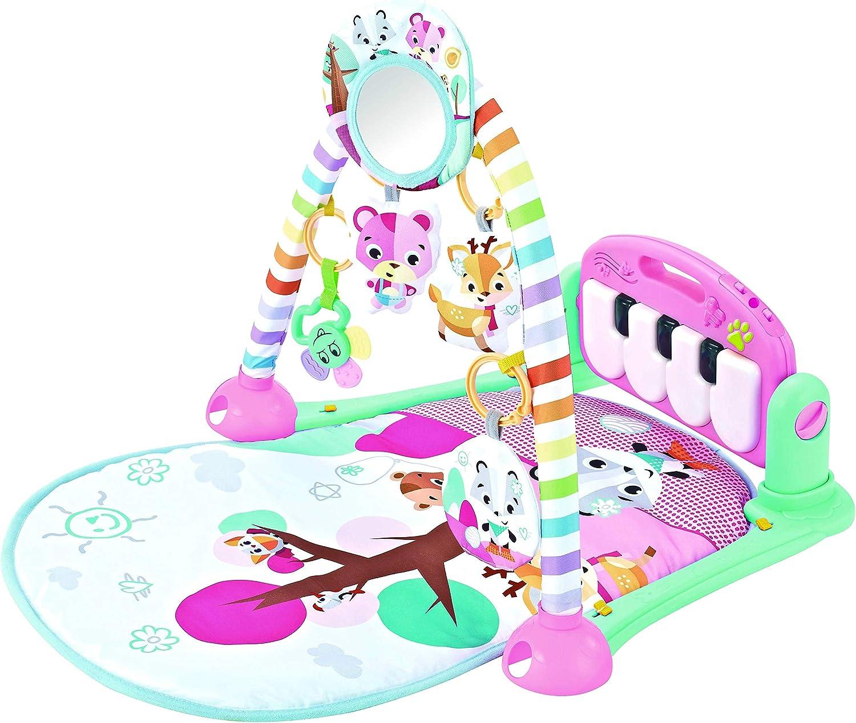 Babify Manta de Juegos Musical con Proyector y Juguetes (Rosa)