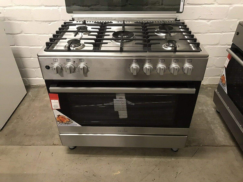 Cocina de gas de 90 cm con 5 quemadores, horno eléctrico, gas ...