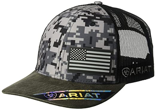 5238d8198455e ARIAT Men s Patriot Mesh Back Rubber Flag Cap