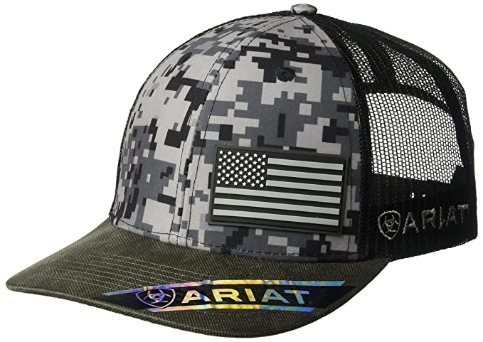 cab53d6c8ad ARIAT Men s Patriot Mesh Back Rubber Flag Cap