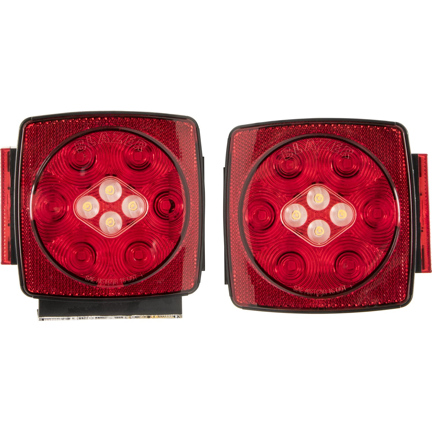Blazer C7425 Led Submersible Trailer Light Kit With Optronics Wiring Diagram Integrated Back Up Automotive