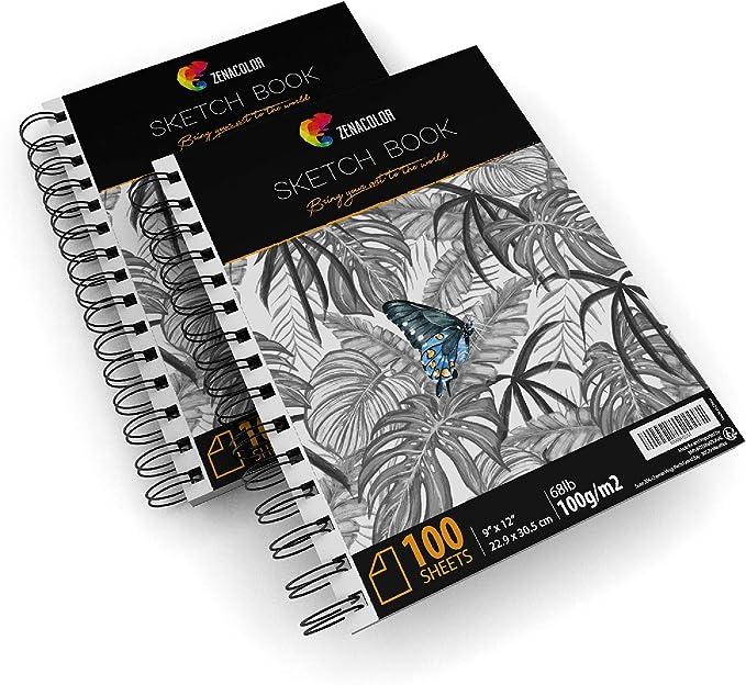 A5 180g // M2 30 Sheets Sketchbook Lightly Grain Dessin A Grain Glued Clai...