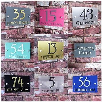 708540805c95 House Sign Solutions MODERN HOUSE SIGN DOOR NUMBER ADDRESS PLAQUE STRET PROPERTY  PLATE