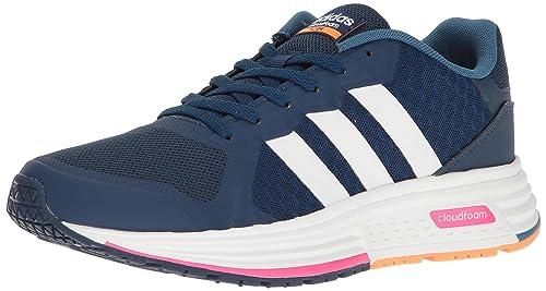 adidas NEO - Tenis de correr, CLOUDFOAM FLYER W, Para mujer , azul,