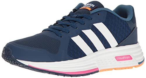best loved d1f90 26eac Adidas Womens Cloudfoam Flyer W Running Shoe, Mystery BlueWhiteShock  Pink,