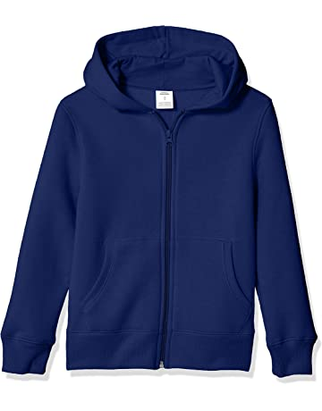 2d0cb34f7 Amazon Essentials Boys' Fleece Zip-up Hoodie