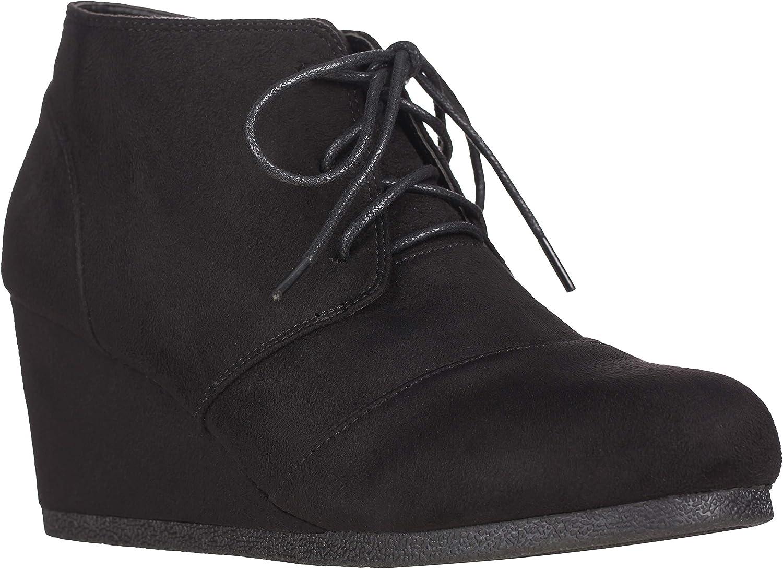 Wedge Heel Boots Black