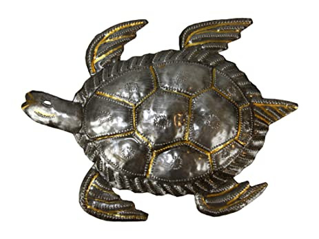 Amazon.com: Sea Turtle Metal Wall Art - A Fair Trade Sculpture From ...