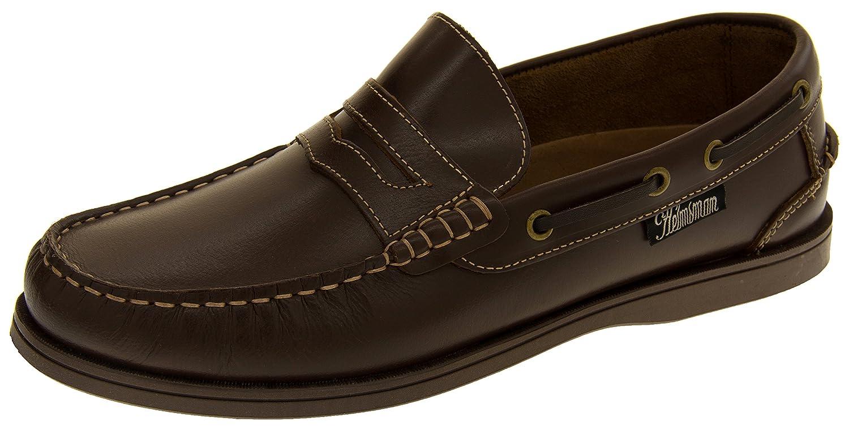 Helmsman 72015 Hombre Cuero Zapatos de la Cubierta Mocasines 43 EU Marrón