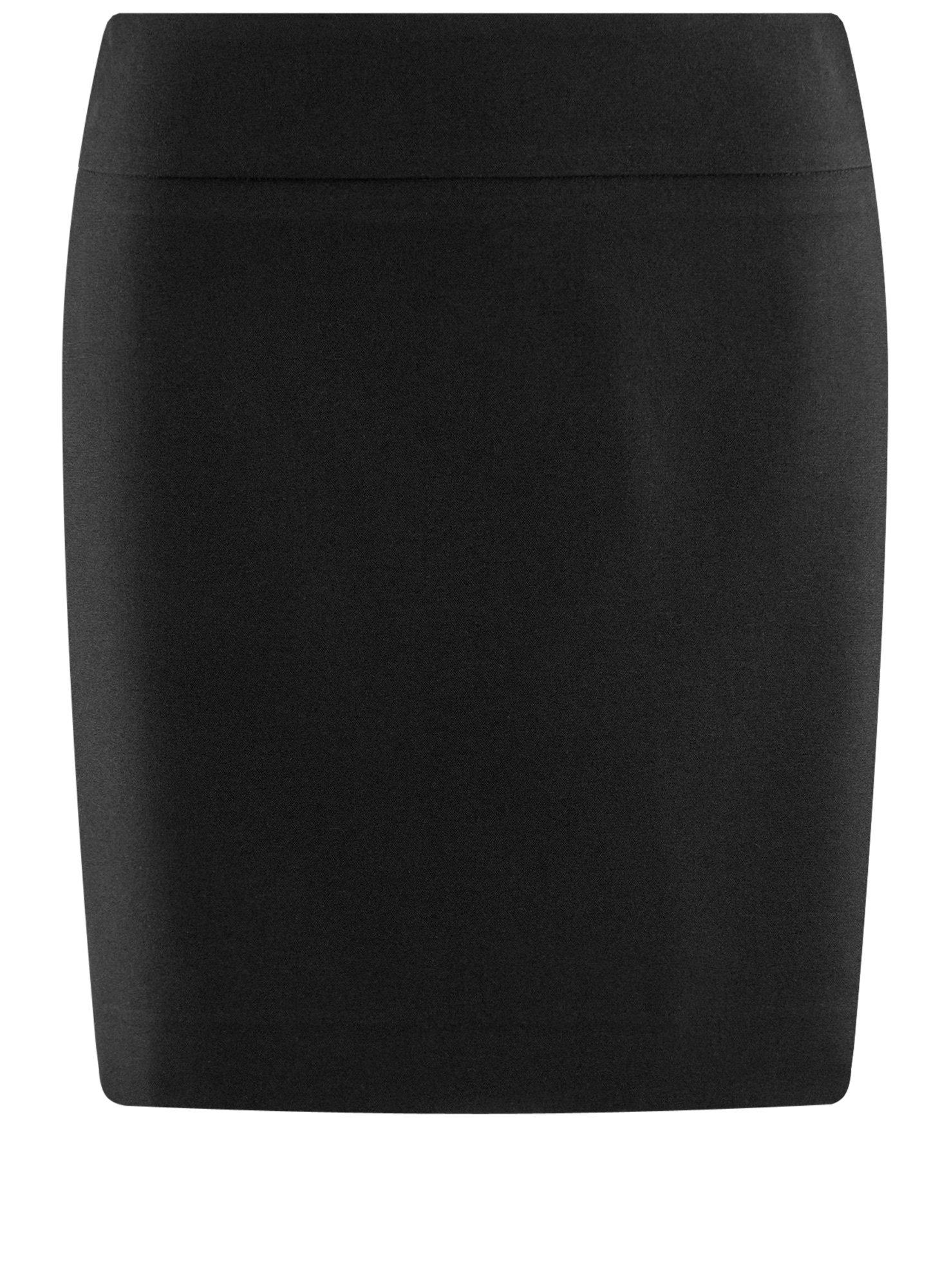 oodji Ultra Women's Basic Short Skirt, Black, 6 by oodji (Image #7)