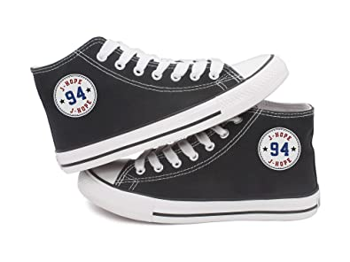 621ff08aec3a Fanstown Kpop BTS Bangtan Boys Sneakers Canvas Shoes Round tag Member Name  and Birth Year Star