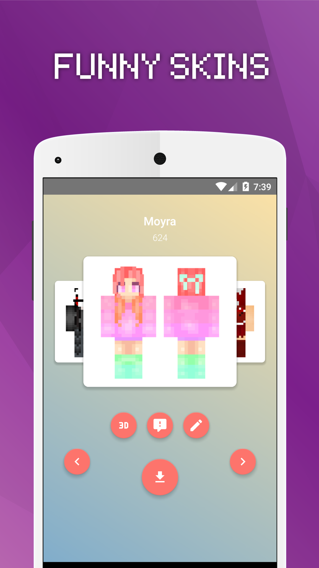 Girls Skins for Minecraft PE - Import It All