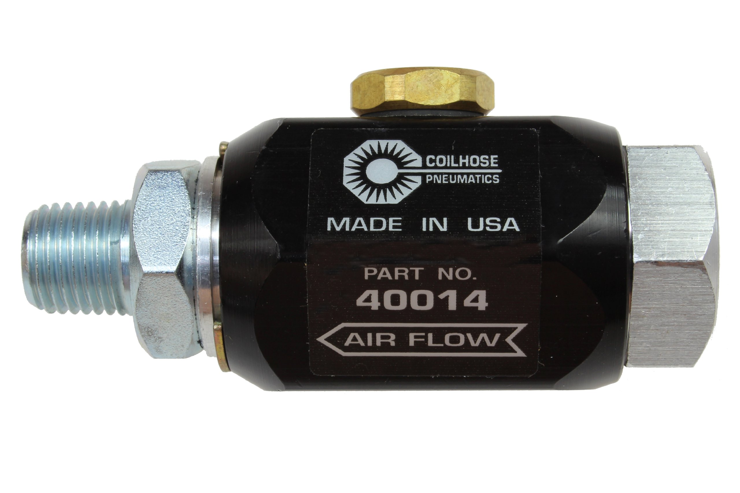 Coilhose Pneumatics 40014 In-Line Lubricator, 1/4-Inch Pipe Size, 5.0 Cubic Centimeter Lubricant Capacity by Coilhose Pneumatics