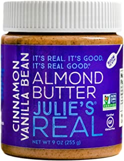 product image for Julie's Real Cinnamon Vanilla Bean Almond Butter - 9 Ounce Jar