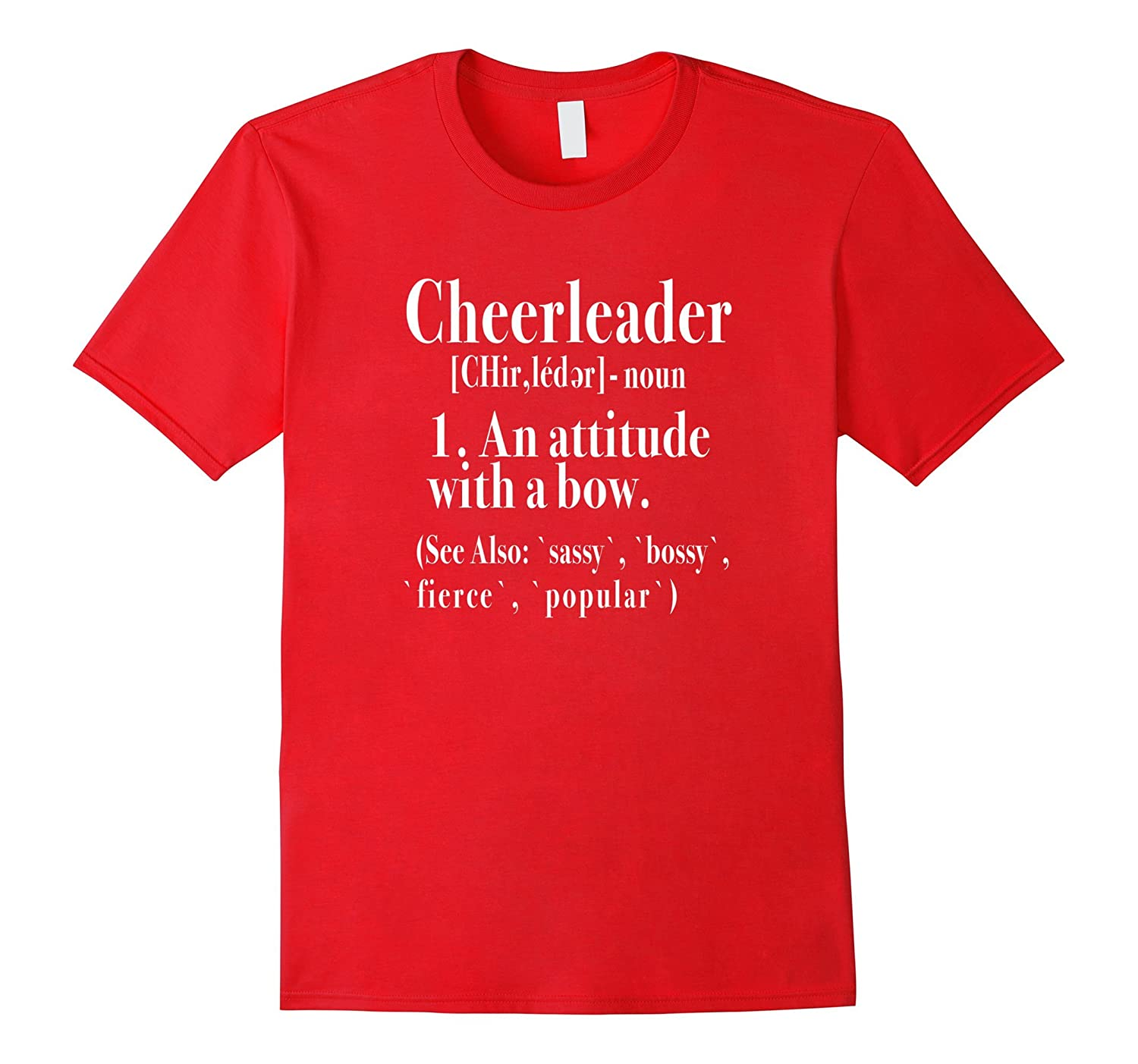 Cheerleading Definition of a Cheerleader Cheer T-Shirt-CL