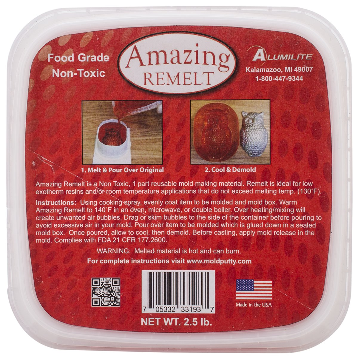 Amazing Casting Products Amazing Remelt Clay Extruders, 1.25-Pound, Red 10595