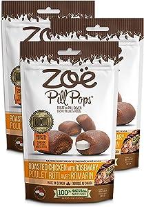 Zoe Pill Pops for Pets, Healthy All Natural Pill Pockets, Dog Treats