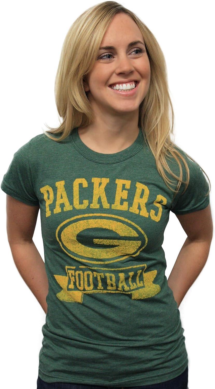 NFL Green Bay Packers Women's Vintage Flock Short Sleeve Crew Tee