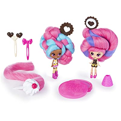"""Candylocks, BFF 2-Pack, 3"""" Cora Crème and Charli Chip, Scented Collectible Dolls with Accessories, Multicolor, (Model: 6054386): Toys & Games"""