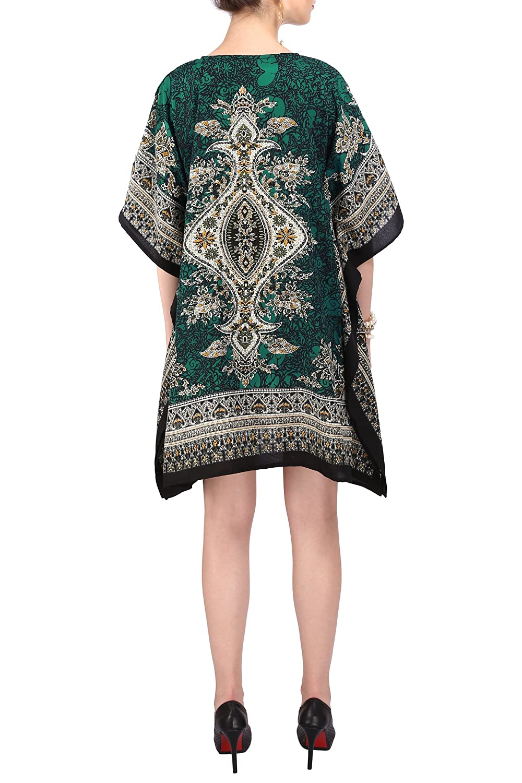 Miss Lavish London Women Kaftan Tunic Kimono Free Size Dress for Loungewear Holidays Nightwear Beach Everyday Top #121