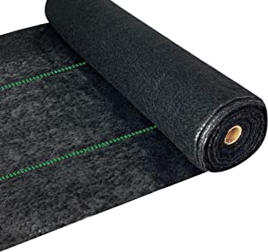 WAENLIR 5.8oz Heavy Duty Weed Barrier Landscape Fabric Premium Ground Cover Weed Cloth Durable Driveway Weed Block Gardening Mat, Outdoor Garden Lawn Fabric mat 3ft x250ft