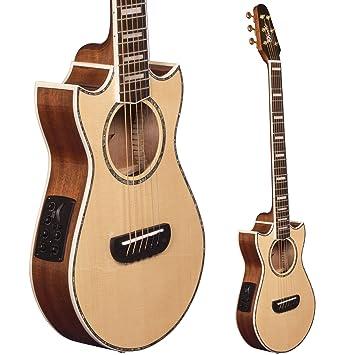 Guitarra de viaje Lindo Voyager SE, electroacústica, de abeto, con preamplificador de mezcla